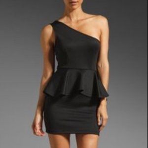 Lovers & Friends One Shoulder Peplum Fitted Dress